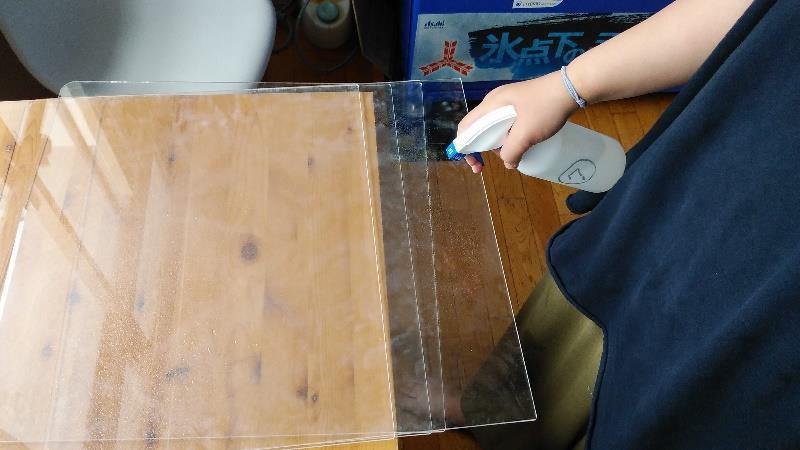 アクリル板の除菌